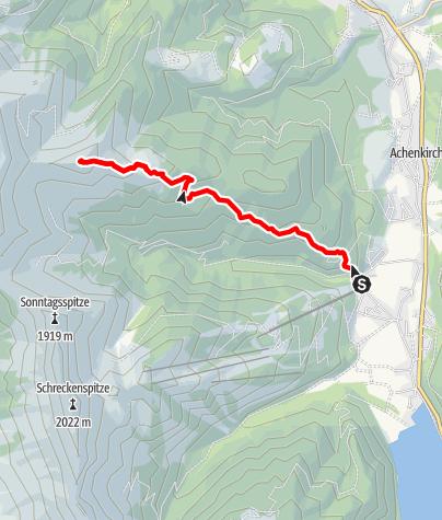 Karte / Juifen-Überschreitung Tag 1 – Achenkirch-Seewaldhütte