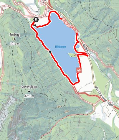 Karte / Faistenau, Hintersee, Rund um den Hintersee