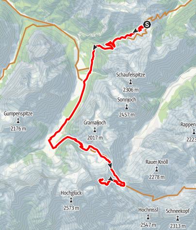 Map / Bike&Hike: Auf die Mondschein- und Lamsenspitze (Tag 2)