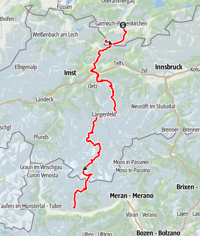 Karte / Alpenübergang hoh