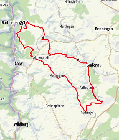 Karte / Unterhaugstett - Ehingen - Simmozheim (Rundtour)