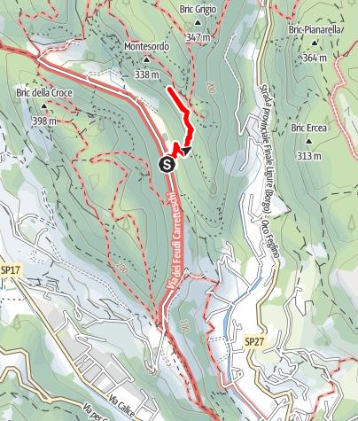 Karte / Grotta dell´Edera - Plaisirklettern in einzigartigem Ambiente bei Finale
