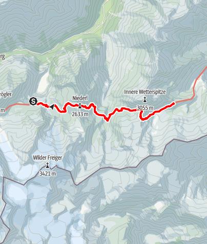 Map / 3. Sulzenauer Hütte - Bremer Hütte
