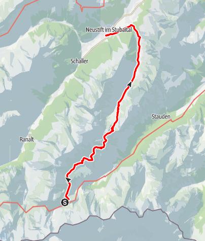 Map / 4. Bremer Hütte - Innsbrucker Hütte - Neustift
