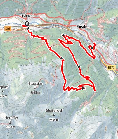 Karte / Ganatschalm am 25. August 2020