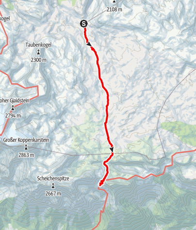 Karte / Dachstein 1 Obertraun - Guttenberghaus