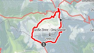 Karte / Giro delle Tre Cime di Lavaredo