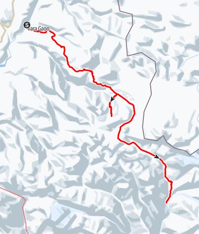 Karte / Von Dhi nach Phu: Damodar Kunda und Saribung La/Mustang La (6042 m)