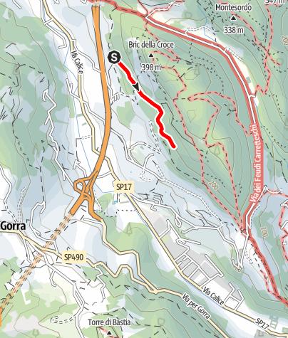 Karte / Placca dell´Oasi - ein zu Recht sehr beliebter Klettergarten bei Finale Ligure
