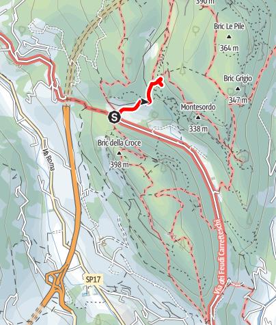 Karte / Pilastrino Mirovino - abwechslungsreicher Klettergarten bei Finale