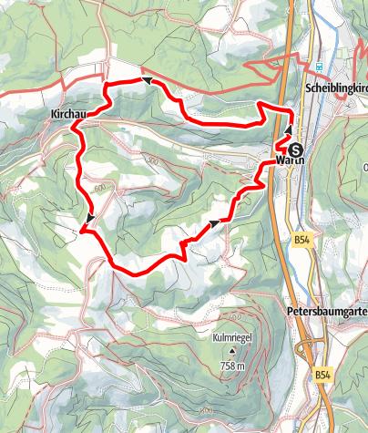 Karte / Orchideen Weg (Warth)