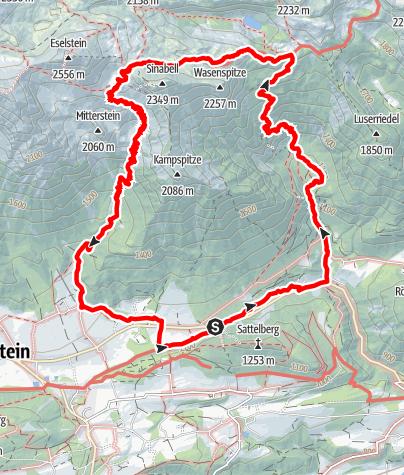Karte / Über die Silberkarklamm zum Guttenberghaus