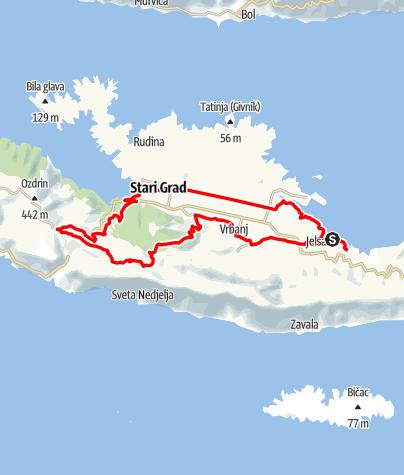 Map / Hvar - Vom Meer ins Gebirge