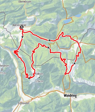 Karte / Eggenalm-Große MTB Rundtour