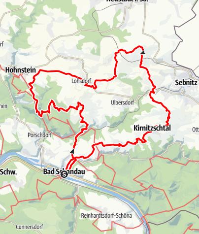 Karte / 50 km Elbsandsteintour der Globetrotter Wandertage 2020