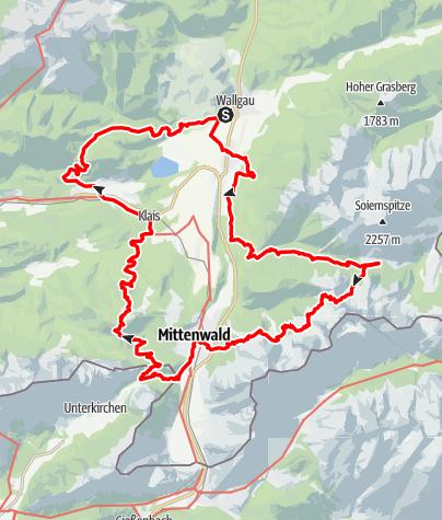 Karte / 24h Alpenwelt Karwendel Grenzerfahrung