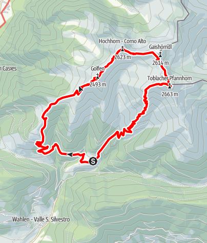 Karte / Rundwanderung Toblacher Höhenweg
