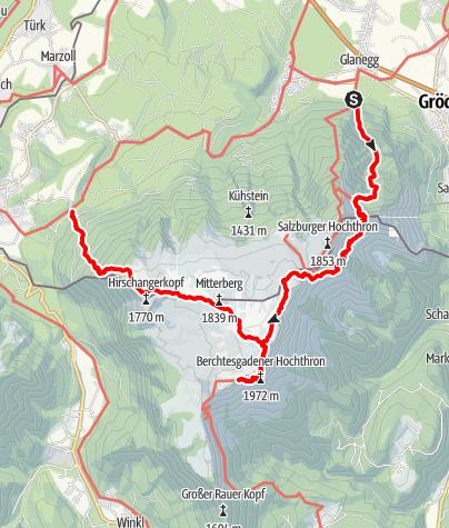 Karte / Untersberg Überschreitung mit Übernachtung