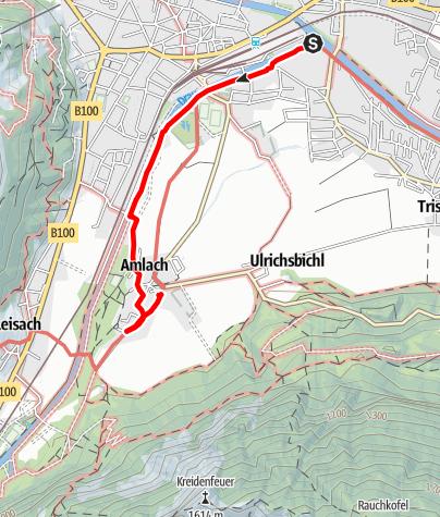 Karte / Iseltrail - Mündung bis Amlach