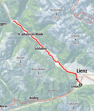 Karte / Amlach - Kienburg bei Huben