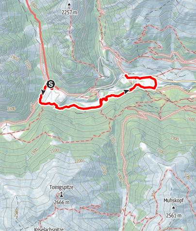 Karte / Ströden - Hinterbichl
