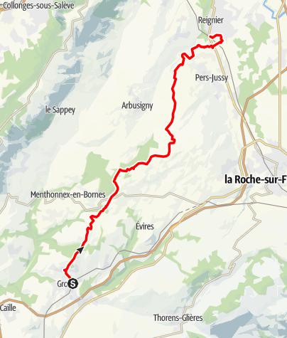 Map / Traversée du Plateau des Bornes