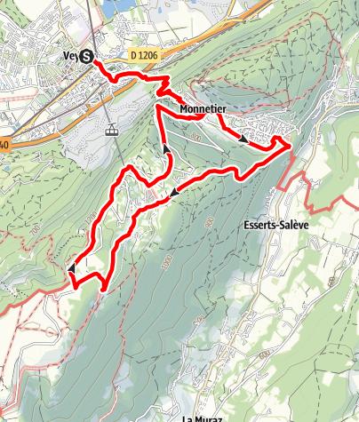 Map / Salève en nocturne + restaurant