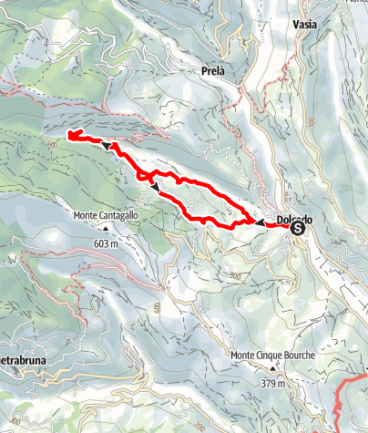 Karte / Dolcedo - Laghetti di Lecchiore
