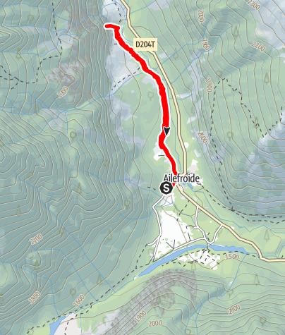 Karte / (F) Ailefroide - Sektor Pilier Violettes - Voyage en Cathiminie