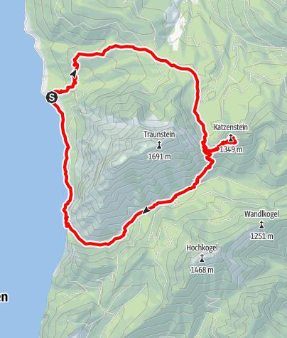 Karte / Katzenstein und rund um den Traunstein 04.10.2020 09:16:22
