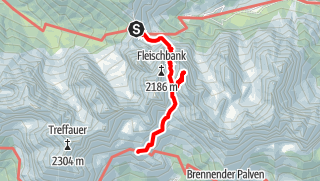 Karte / Gruttenhütte - Übergang vom Stripsenjochhaus über Steinernde Rinne, Ellmauer Tor (Besteigung Hintere Goinger Halt) und Jubiläumssteig