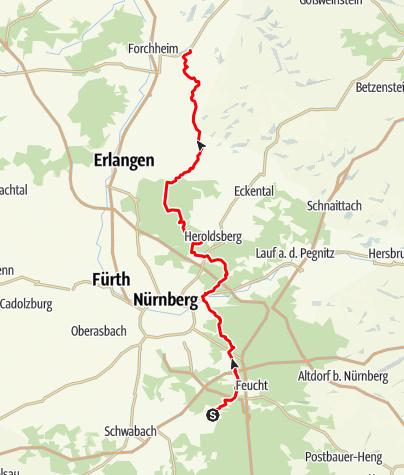 Karte / Wendelstein-Forchheim