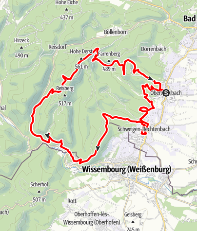 Map / Mountainbiketour 10 Oberotterbach (Bad Bergzabern-Süd)