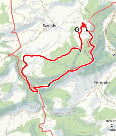 Karte / Vom Feriendorf Maierhöfen durch den Schüttentobel zum Fillebänkle