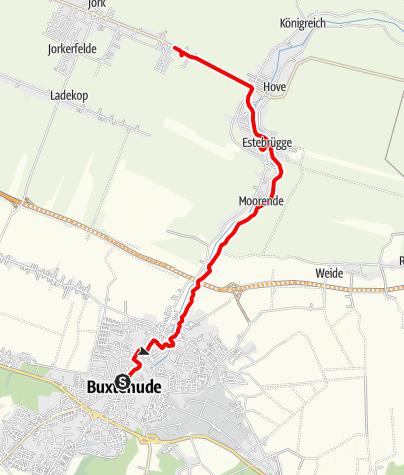 Karte / 17.09. Buxtehude-Obsthof Lefers-Estedeich Altes Land 10 km