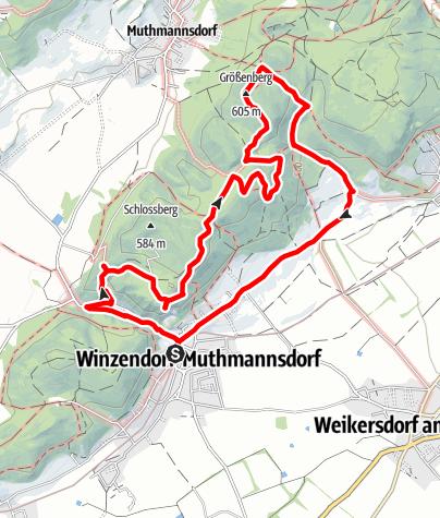 Karte / Engelsberg 568m & Größenberg 605m