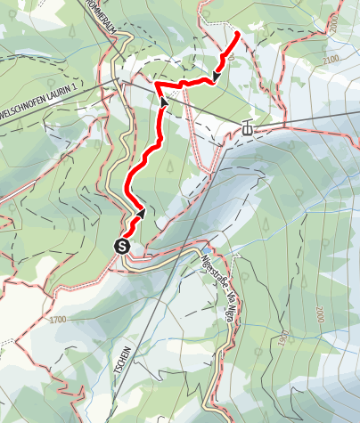 Karte / Familienwanderung zur Almhütte Messnerjoch