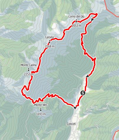 Karte / Flinki Camp Ledrosee Tour 3 - halbes Hufeisen (Monte Cadria)