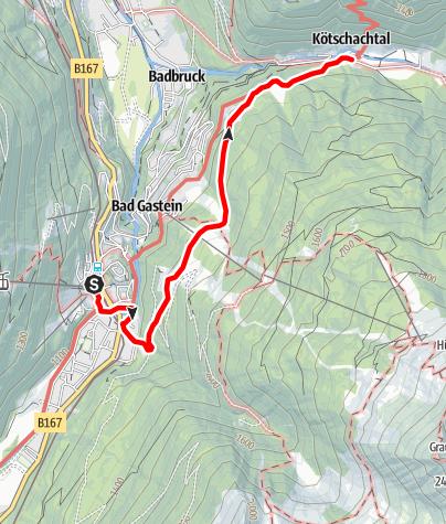 Karte / Salzburger Almenweg - Etappe 13