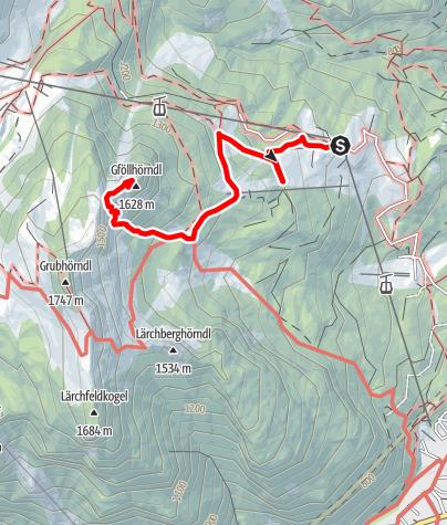 Karte / Gföllhörndl