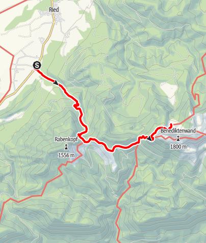 Karte / Pessenbach zur Tutzinger Hütte
