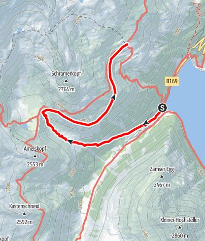 Karte / Zustieg zur Olpererhütte über die Neumarkter Runde