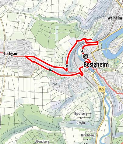 """Karte / Die """"Schönste Weinsicht"""" von Württemberg"""