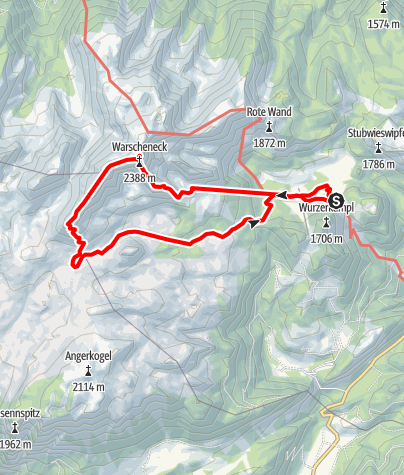 Map / Warscheneck-Liezener-Rossarsch, Totes Gebirge O.Ö.