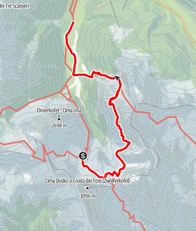 Karte / 5. Etappe: Zsigmondy-Hütte - Fischleinbodenhütte