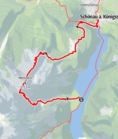 Karte / Watzmann Ostwand - DER Ostalpenklassiker auf dem Berchtesgadener Weg