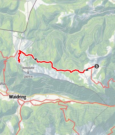 Karte / Von der Loferer Alm auf die Steinplatte