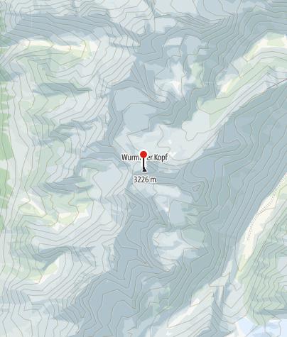 Map / Biwak am Wurmtaler Kopf 3228 m