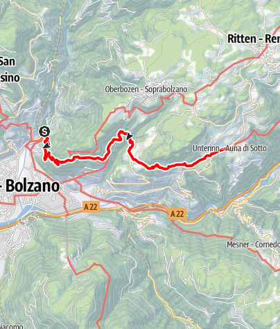 Karte / Keschtnweg Bozen-Ritten