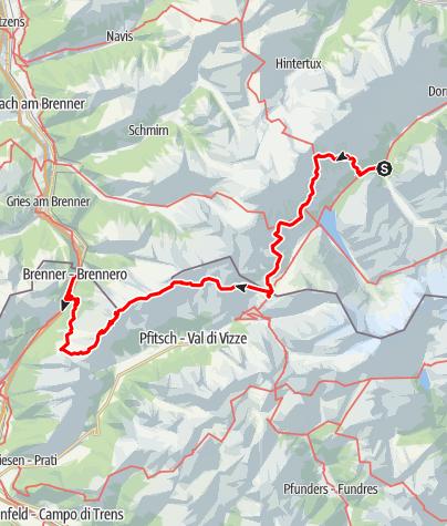 Karte / Vom Zillertal zum Brenner